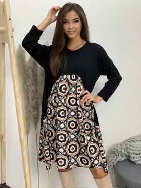 Šaty teplákové oriental