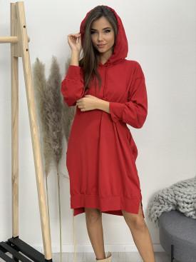 Šaty teplákové s kapucňou USE 5703