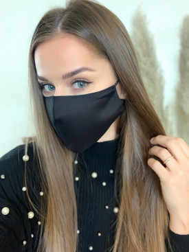 Bavlnené rúško jednofarebné čierne