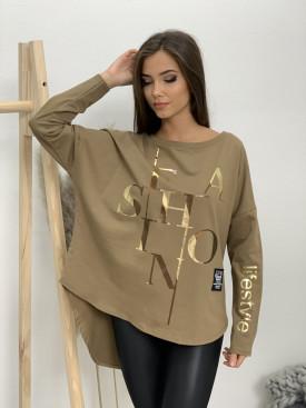 Mikina bez kapucne fashion 92021
