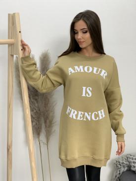 Šaty mikinové vyteplené Amour