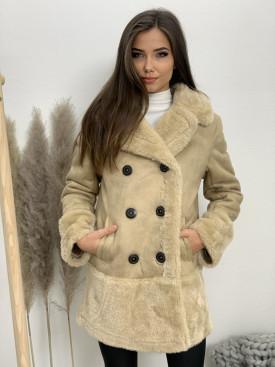 Kabát vyteplený kožušinkou 6329