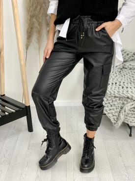 Nohavice koženkové kapsáče 3096