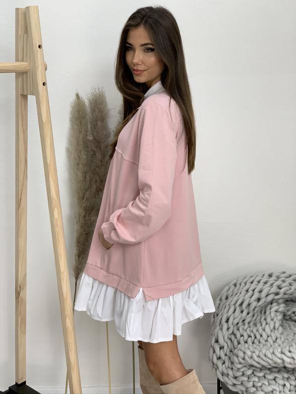 Šaty teplákové s límčekom 22023