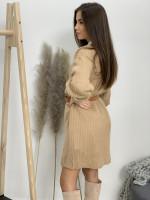 Šaty pletené jednofarebné 20181
