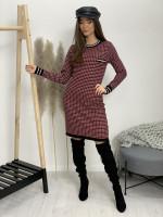 Šaty úpletové čiernobiely patent 80192