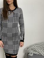 Šaty úpletové pepito gombíky na rukáve 88567