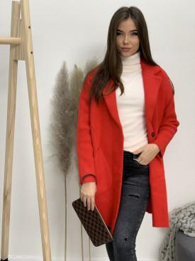 Kabát jednofarebný s vreckami 9594