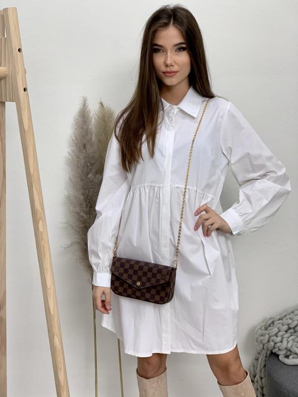 Šaty biele košeľové 1340-67
