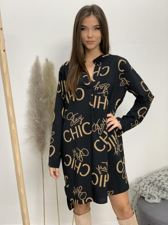 Šaty nad kolená s opaskom chic 5766