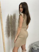 Šaty nad kolená vypchaté ramená 90282