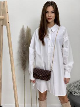 Šaty biele košeľové 1185-67