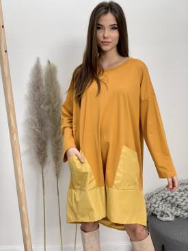 Šaty teplákové vrecká 20272