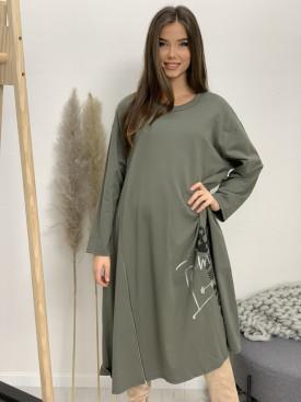 Šaty teplákové zips 12017