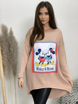 Sveter predĺžený zad Mickey and Minnie