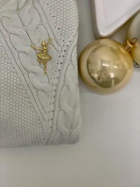 Brošňa zlatá baletka
