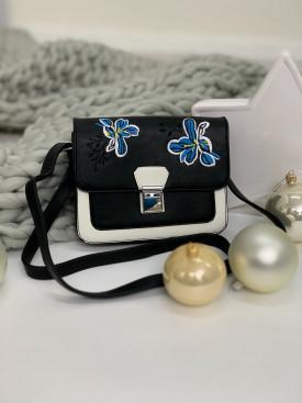 Kabelka modrý kvet 5296