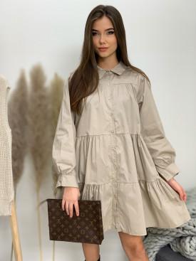 Šaty na knoflíčky jednobarevné 31655