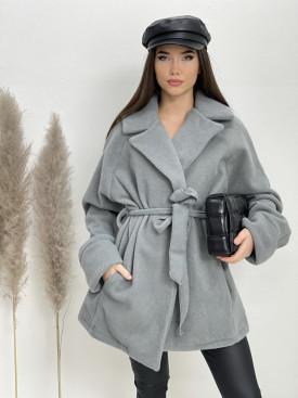 Kabát s viazaním 13940
