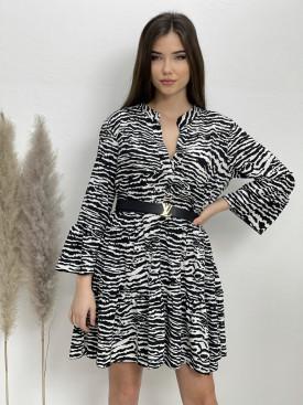 Šaty nad kolená zebra 8745
