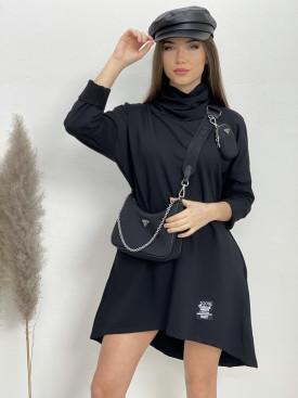 Šaty teplákové s kapucňou 1593