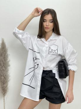 Košeľa jednofarebná Kitty 5175