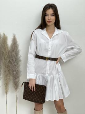 Šaty košeľové nad kolená volán