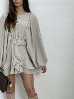 Šaty krátke s opaskom 1447