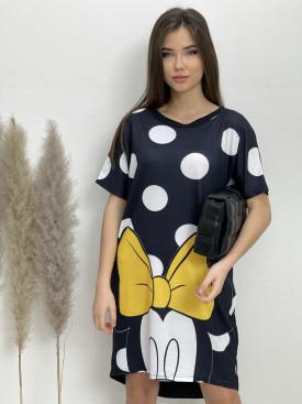 Šaty teplákové Minnie bodky