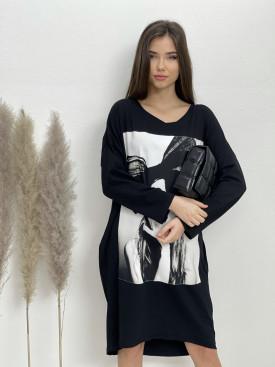 Šaty teplákové po kolená dievča s mašľou