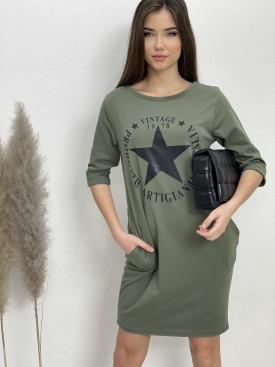 Šaty teplákové Vintage 18312