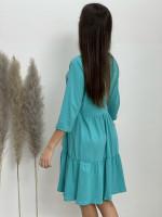 Šaty teplákové po kolená 9844 dlhý rukáv