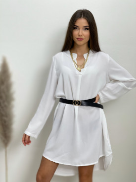 Šaty jednofarebné s opaskom 8683