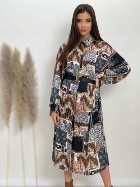 Šaty pod kolená ornamenty 85102