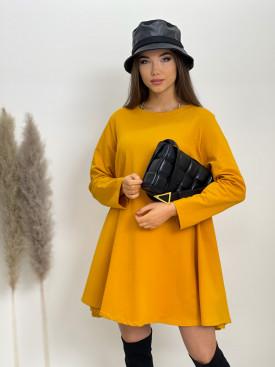 Šaty teplákové jednofarebné 21009