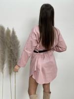 Šaty košeľové nad kolená s opaskom 92459