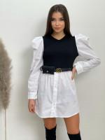Šaty košilové s páskem 12756