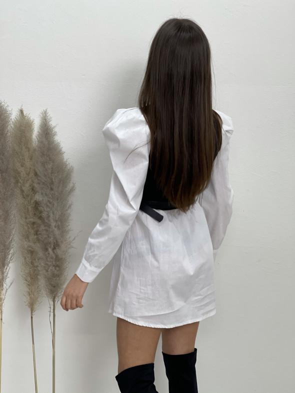 Šaty košeľové s opaskom 12756
