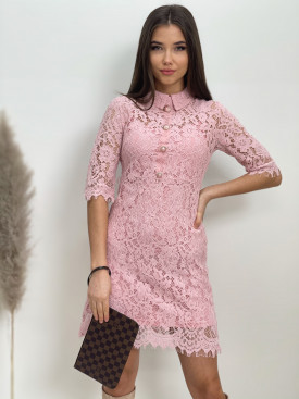Šaty čipkované s gombíkmi 19Z