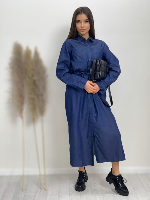 Šaty dlhé rifľové 2924