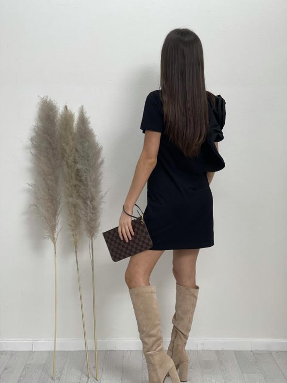 Šaty nad kolená volán 5009