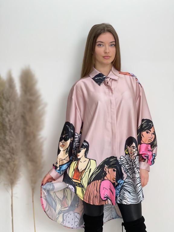 Košeľa predĺžená women 83215