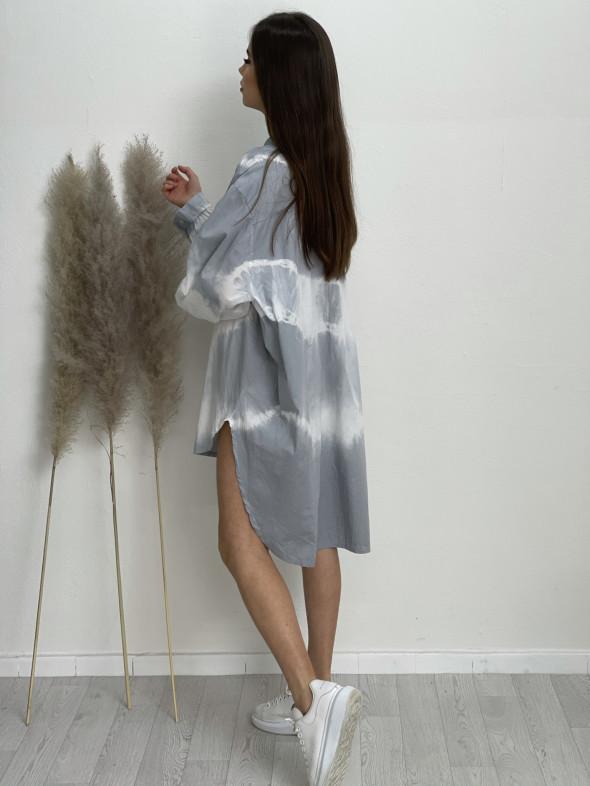 Šaty košilové batikované 83215