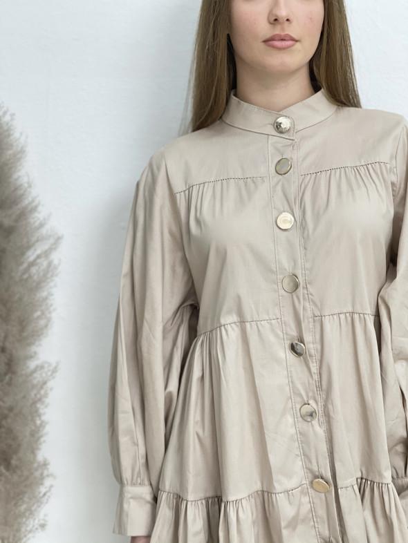 Šaty košilové na knoflíky 83860