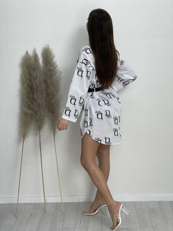 Šaty košilové nad kolena idear 92459
