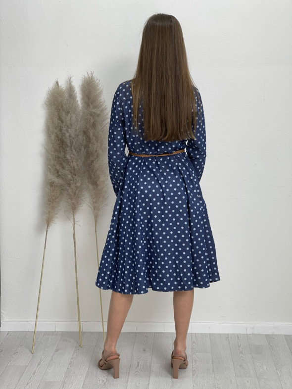 Šaty rifľové guľky