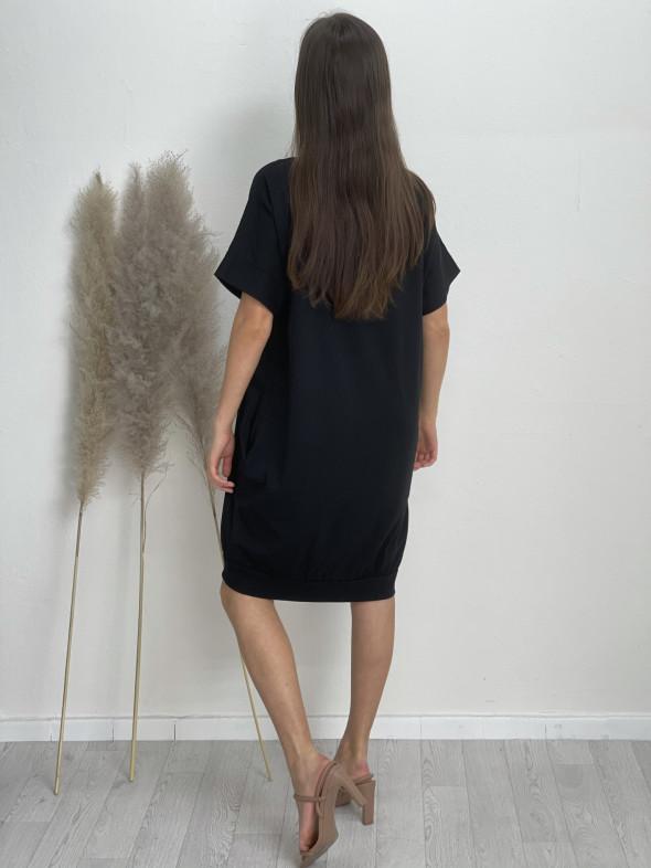 Šaty teplákové po kolená BEST DAY 219763