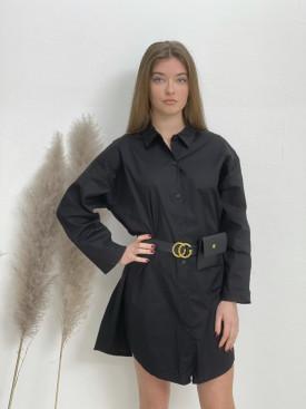 Šaty košeľové nad kolená s kapsičkou 92459