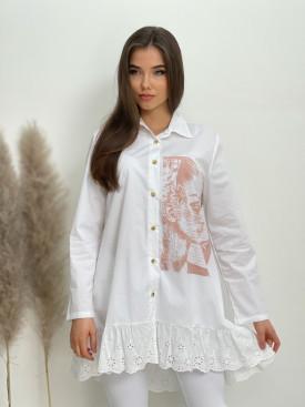 Košeľa s krajkou 82103