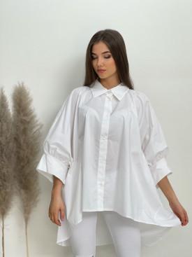 Košeľa voľná jednofarebná 20837